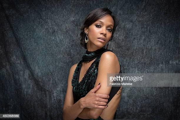 Actor Zoe Saldana is photographed in Cannes, France.