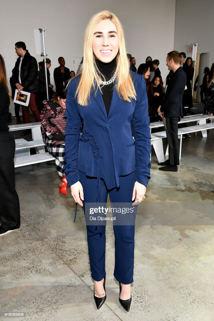 Actor Zosia Mamet attends the Jason Wu front row during New York Fashion Week: The Shows at Gallery I at Spring Studios on February 9, 2018 in New York City.