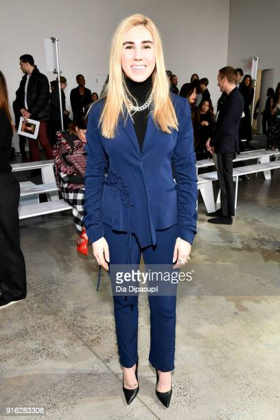 Actor Zosia Mamet attends the Jason Wu front row during New York Fashion Week The Shows at Gallery I at Spring Studios on February 9 2018 in New York...