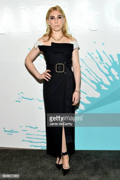 Actor Zosia Mamet attends the Tiffany Co presents Whitney Biennial VIP Opening Night at The Whitney Museum of American Art on March 15 2017 in New...