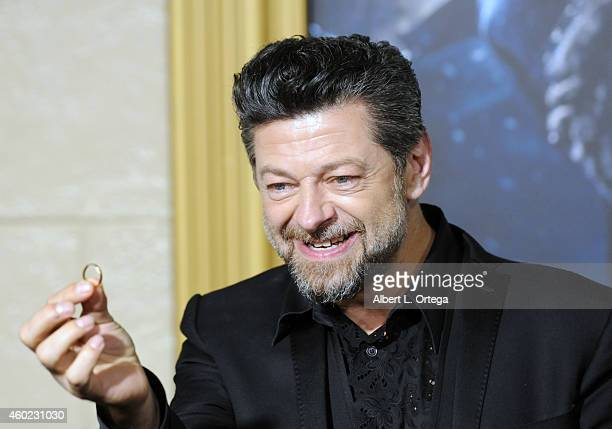 "Actor/2nd unit director Andy Serkis arrives for Premiere Of New Line Cinema, MGM Pictures And Warner Bros. Pictures' ""The Hobbit: The Battle Of The..."