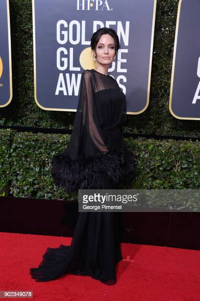 ActorAngelina Jolie attends The 75th Annual Golden Globe Awards at The Beverly Hilton Hotel on January 7 2018 in Beverly Hills California
