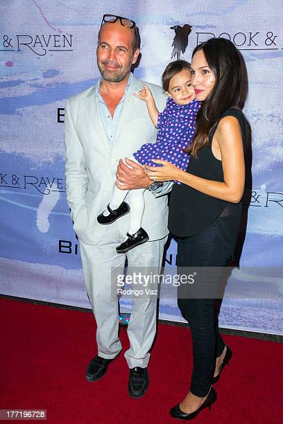 Actor/artist Billy Zane dughter Ava Katherine Zane and model Candice Neil attend the artist's reception for Billy Zane's solo art exhibition Seize...