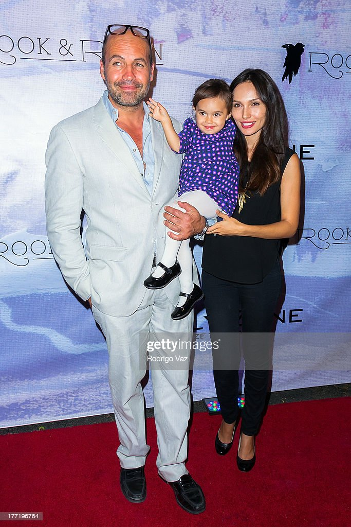 Actor/artist Billy Zane, dughter Ava Katherine Zane and model Candice Neil attend the artist's reception for Billy Zane's solo art exhibition 'Seize The Day Bed' on August 21, 2013 in Los Angeles, California.