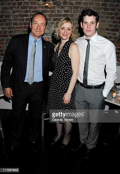 Actor/Artistic Director of The Old Vic Kevin Spacey actor AnneMarie Duff and Tommy McDonnell attendsthe afterparty celebrating press night of 'Cause...