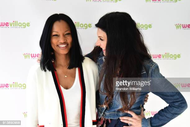 Actor/Author Garcelle Beauvais and producer Karen Beninati attend the live book reading of Garcelle Beauvais' book 'I Am Awesome' at WeVillage...