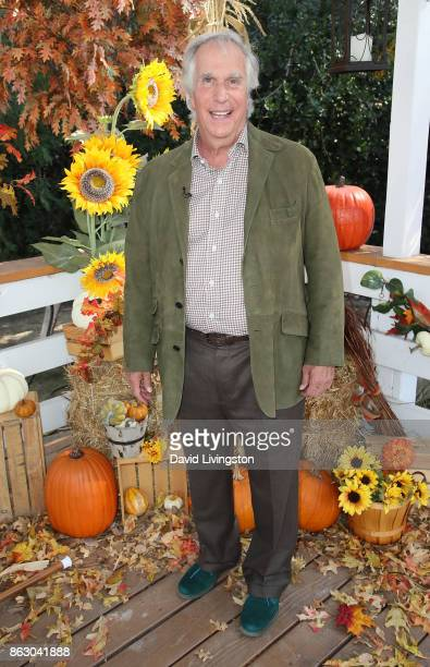 Actor/author Henry Winkler visits Hallmark's Home Family at Universal Studios Hollywood on October 18 2017 in Universal City California