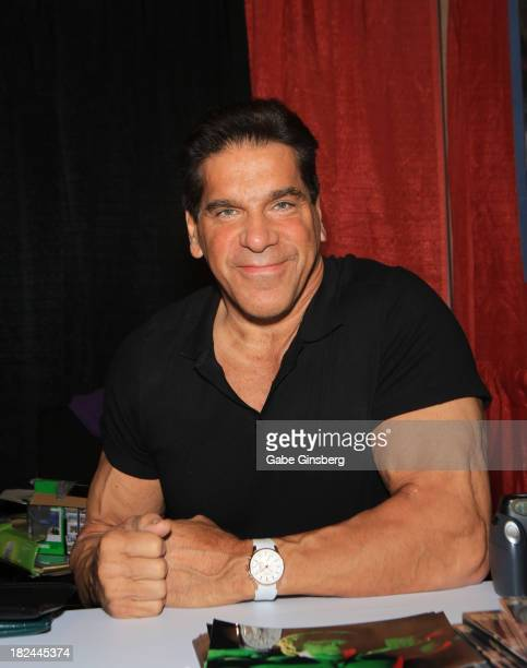 Actor/body builder Lou Ferrigno attends the Las Vegas Comic Expo at the Riviera Hotel Casino on September 29 2013 in Las Vegas Nevada