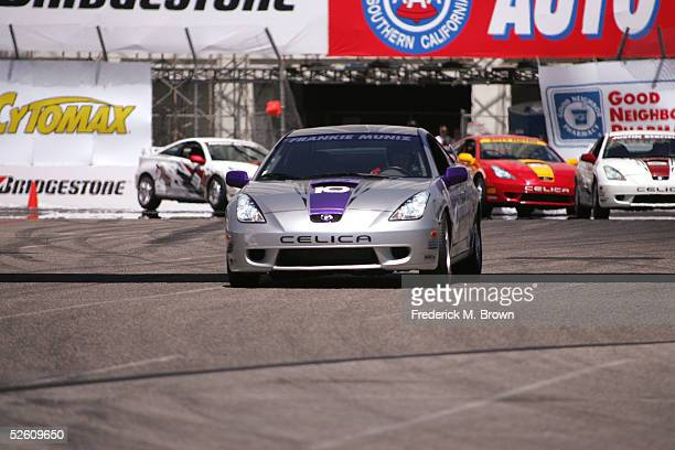 Actor/Celebrity race car driver Frankie Muniz wins the 29th Annual Toyota Pro/Celebrity Race at the Toyota Grand Prix of Long Beach on April 9 2005...
