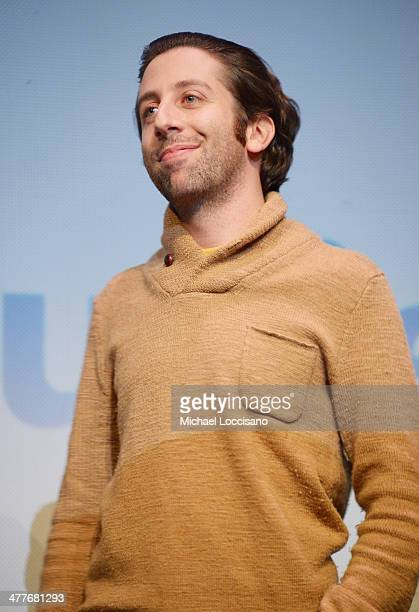 Actor/codirector Simon Helberg takes part in a QA following the We'll Never Have Paris premiere during the 2014 SXSW Music Film Interactive Festival...