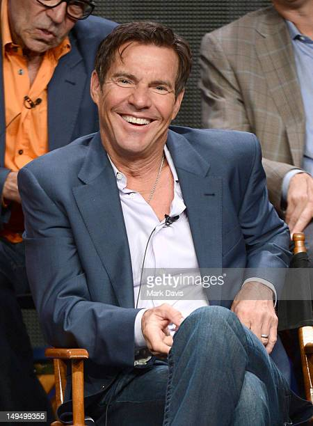Actor/coexecutive producer Dennis Quaid speaks at the 'Vegas' discussion panel during the CBS portion of the 2012 Summer Television Critics...