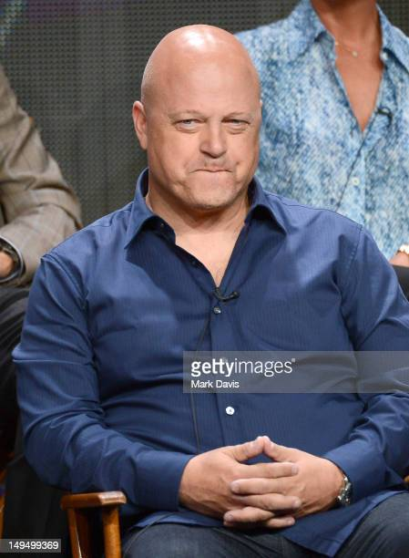 Actor/coexecutive producer Michael Chiklis speaks at the 'Vegas' discussion panel during the CBS portion of the 2012 Summer Television Critics...