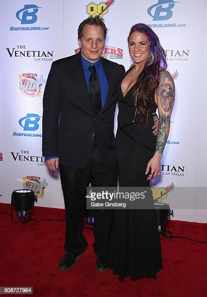 Actor/comedian Adam Hunter and mixed martial artist Gina Danger Mazany attend the eighth annual Fighters Only World Mixed Martial Arts Awards at The...