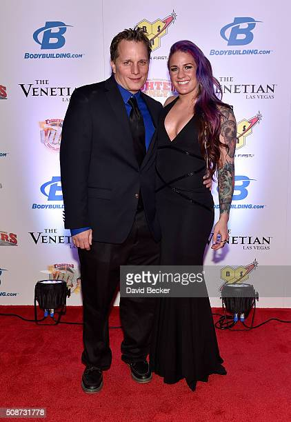 Actor/comedian Adam Hunter and mixed martial artist Gina Mazany arrive at the eighth annual Fighters Only World Mixed Martial Arts Awards at The...