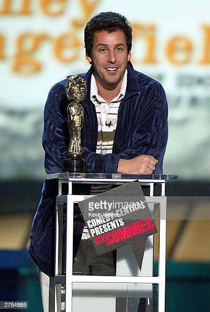 Actor/Comedian Adam Sandler speaks on stage during Comedy Central's First Ever Awards Show The Commies held on November 22 2003 at Sony Pictures...