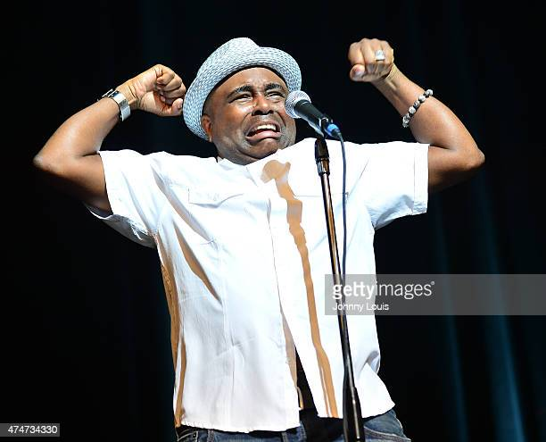 Actor/comedian Alex Thomas performs during the 8th Annual Memorial Day Weekend Comedy Festival at James L Knight Center on May 24 2015 in Miami...