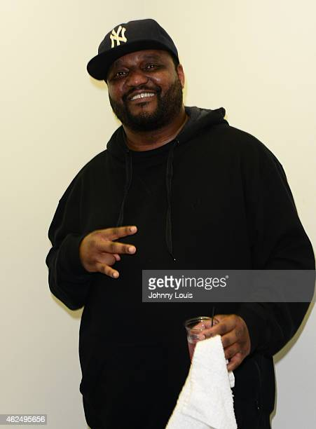 Actor/Comedian Aries Spears backstage during The Festival of Laughs day 2 at James L Knight Center on January 17 2015 in Miami Florida