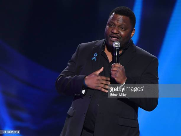 Actor/comedian Aries Spears cohosts the 2018 Adult Video News Awards at The Joint inside the Hard Rock Hotel Casino on January 27 2018 in Las Vegas...