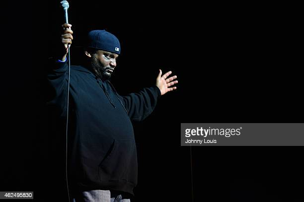 Actor/Comedian Aries Spears onstage during The Festival of Laughs day 2 at James L Knight Center on January 17 2015 in Miami Florida