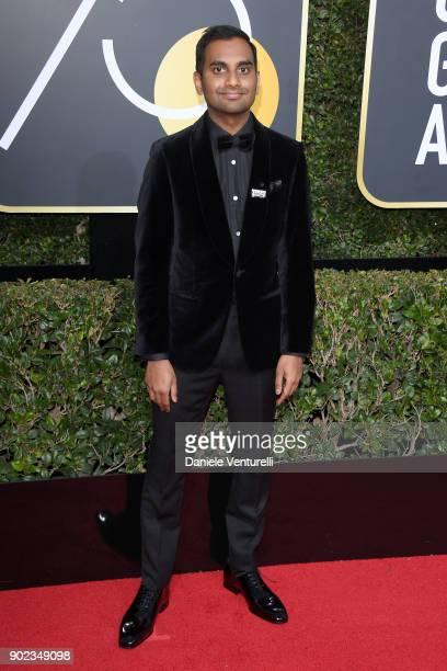 Actor/Comedian Aziz Ansari attends The 75th Annual Golden Globe Awards at The Beverly Hilton Hotel on January 7 2018 in Beverly Hills California