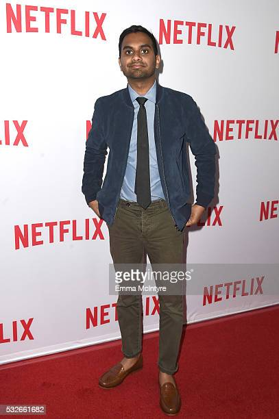 "Actor/comedian Aziz Ansari attends the Emmy season screening of Netflix's ""Master of None"" at The Paley Center for Media on May 18, 2016 in Beverly..."