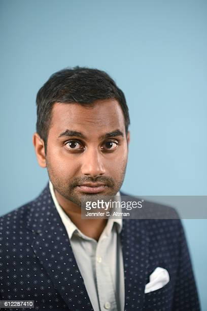 Actor/comedian Aziz Ansari is photographed for Los Angeles Times on July 18, 2016 in Brooklyn, New York.
