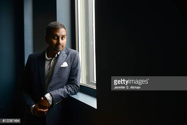 Actor/comedian Aziz Ansari is photographed for Los Angeles Times on July 18 2016 in Brooklyn New York