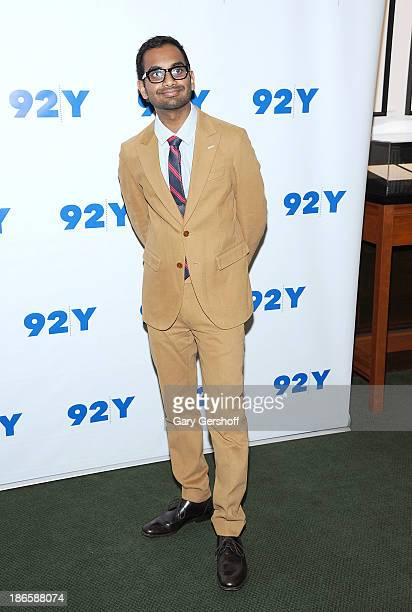 Actor/comedian Aziz Ansari poses before 'An Evening with Aziz Ansari and Brian Stelter' at 92Y on November 1 2013 in New York City