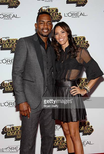 Actor/comedian Bill Bellamy and wife Kristen Baker arrives at the Loreal Style Stage at the Soul Train Awards 2012 at PH Live at Planet Hollywood...