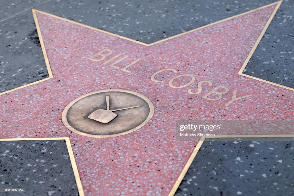 Bill Cosby's Hollywood Walk Of Fame Star Vandalized : News Photo