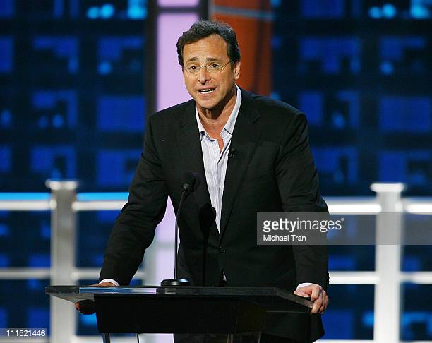 Actor/comedian Bob Saget on stage at the 'Comedy Central Roast Of Bob Saget' on the Warner Brothers Lot on August 3 2008 in Burbank California