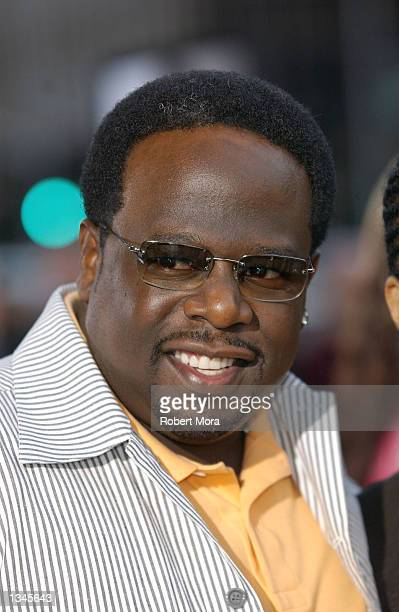 "Actor/comedian Cedric The Entertainer attends the premiere of ""Serving Sara"" at the Samuel Goldwyn Theater on August 20, 2002 in Beverly Hills,..."