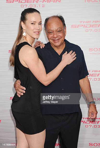 Actor/comedian Cheech Marin and wife Natasha Marin arrive at the Los Angeles premiere of The Amazing Spiderman at Regency Village Theatre on June 28...