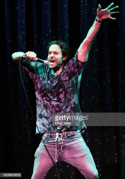 Actor/comedian Chris D'Elia performs his standup comedy routine as part of the Aces of Comedy series at The Mirage Hotel Casino on August 25 2018 in...