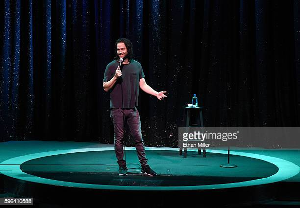Actor/comedian Chris D'Elia performs his standup comedy routine as part of the Aces of Comedy series at The Mirage Hotel Casino on August 26 2016 in...