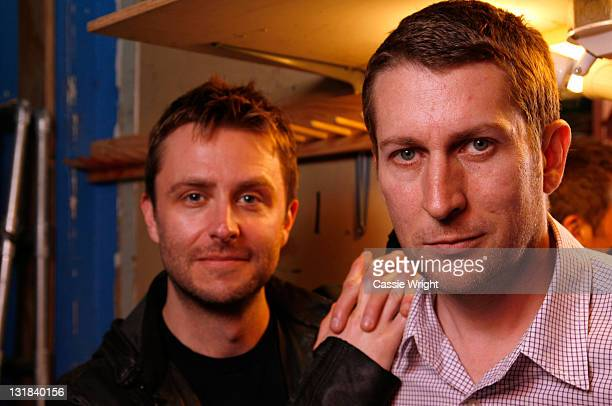 Actor/comedian Chris Hardwick and comedian Scott Aukerman attend the 2011 SXSW Music Film Interactive Festival Comedy Showcase Comedy DeathRay...