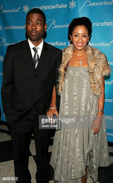 Actor/Comedian Chris Rock and his wife Malaak attend the 2nd Annual Snowflake Ball at the WaldorfAstoria Hotel on November 28 2005 in New York City
