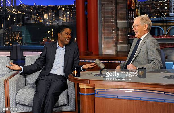 Actor/comedian Chris Rock talks about his new film Top Five on the Late Show with David Letterman Thursday Dec 11 2014 on the CBS Television Network