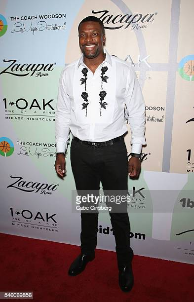 Actor/comedian Chris Tucker attends the Coach Woodson Las Vegas Invitational red carpet and pairings party at 1 OAK Nightclub at The Mirage Hotel...