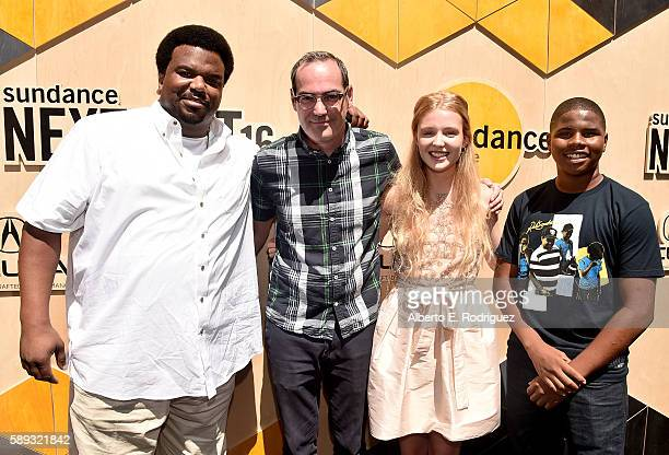 Actor/comedian Craig Robinson director Chad Hartigan and actors Lina Keller and Markees Christmas attend the 'Morris From America' and 'Best to You'...