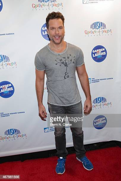 Actor/comedian Dane Cook arrives for the 2015 Garden Of Laughs Comedy Benefit at the Club Bar and Grill at Madison Square Garden on March 28 2015 in...