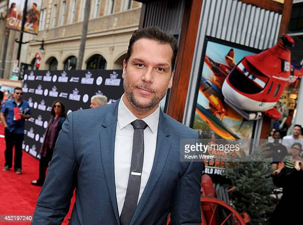 Actor/comedian Dane Cook attends the premiere of Disney's 'Planes Fire Rescue' at the El Capitan Theatre on July 15 2014 in Hollywood California