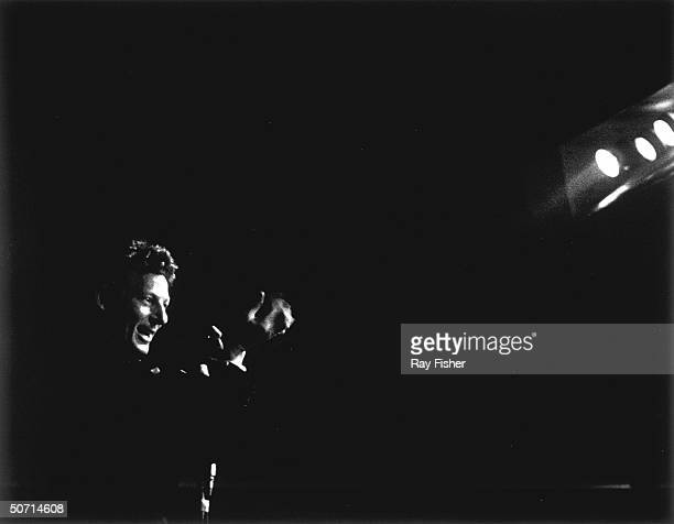 Actor/comedian Danny Kaye performing on stage