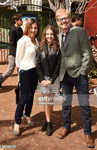 Actor/comedian Dave Foley and Alina Foley attend the premiere of Sony Entertainment's 'Goosebumps' at the Regency Village Theater on October 4 2015...
