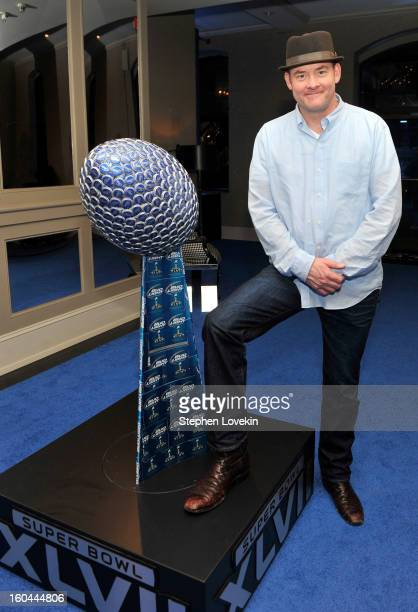 Actor/comedian David Koechner gives a tour of the newly transformed Bud Light Hotel in downtown New Orleans in advance of Super Bowl XLVII on January...