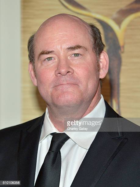 Actor/comedian David Koechner poses in the Press Room during the 2016 Writers Guild Awards at the Hyatt Regency Century Plaza on February 13 2016 in...