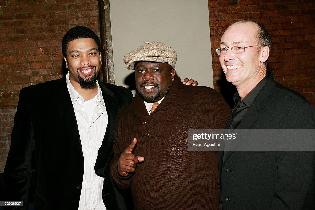 Actor/comedian DeRay Davis, actor Cedric The Entertainer and director Les Mayfield attend the 'Code Name: The Cleaner' premiere after party at Pacha, January 04, 2007 in New York City.