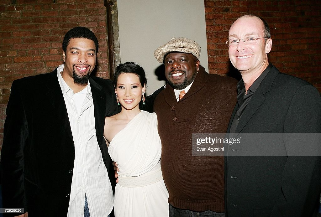 Actor/comedian DeRay Davis, actress Lucy Liu, actor Cedric The Entertainer and director Les Mayfield attend the 'Code Name: The Cleaner' premiere after party at Pacha, January 04, 2007 in New York City.
