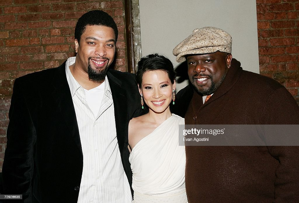 Actor/comedian DeRay Davis, actress Lucy Liu, and actor Cedric The Entertainer attend the 'Code Name: The Cleaner' premiere after party at Pacha, January 04, 2007 in New York City.