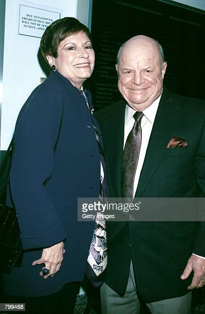 Actor/comedian Don Rickles and his wife Barbara Sklar attend a tribute to actor/comedian Jan Murray at The Friars Club of California April 6 2001 in...